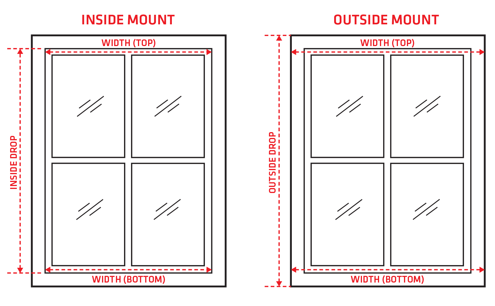 How To Measure Your Window For Roller Blinds Zone Interiors