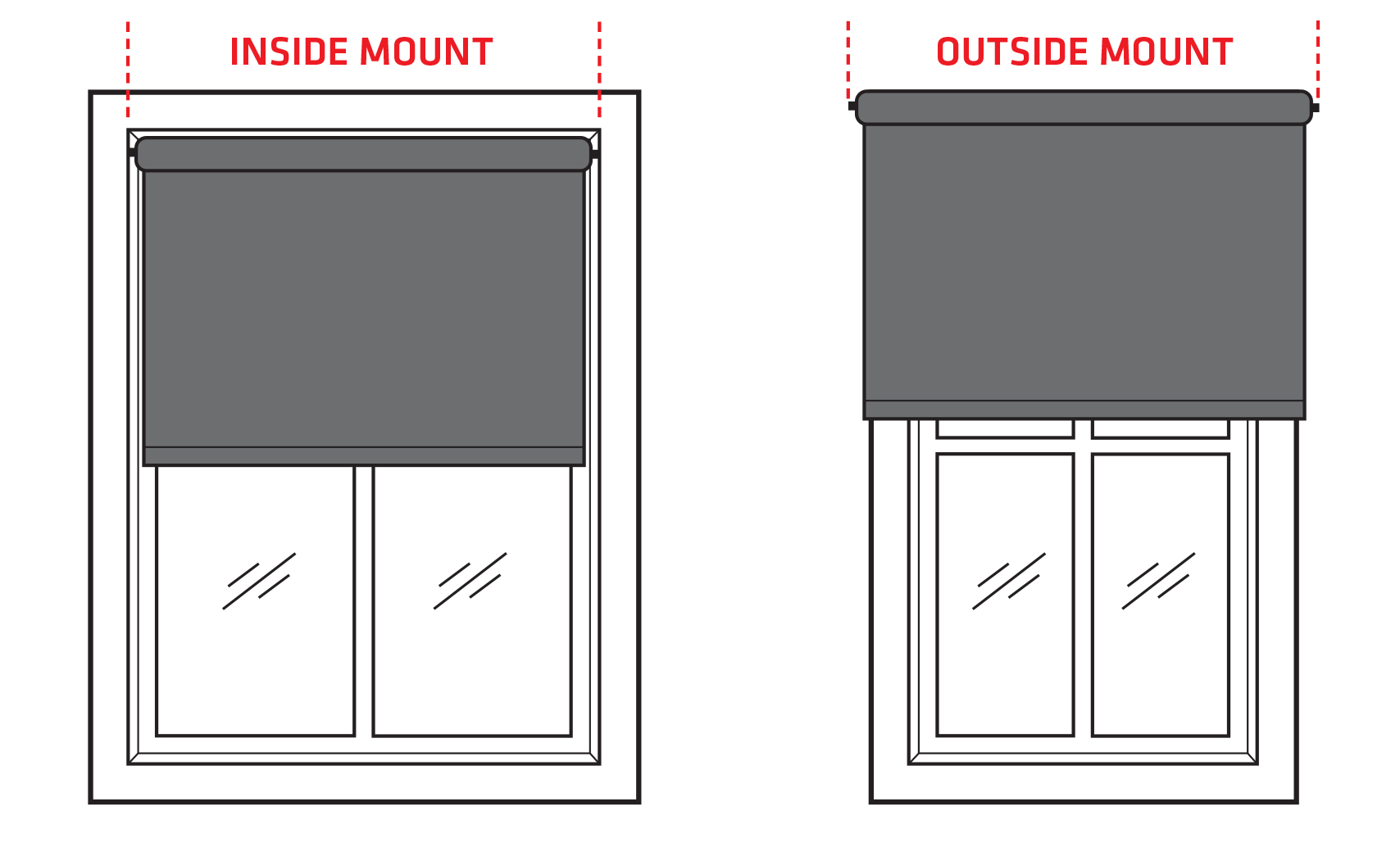 Inside & outside mount Roller Blinds