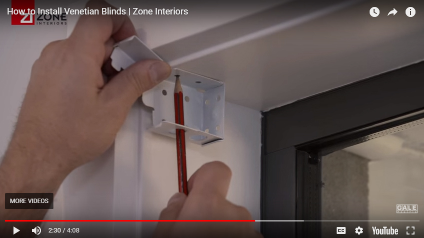 How to install your venetian blind