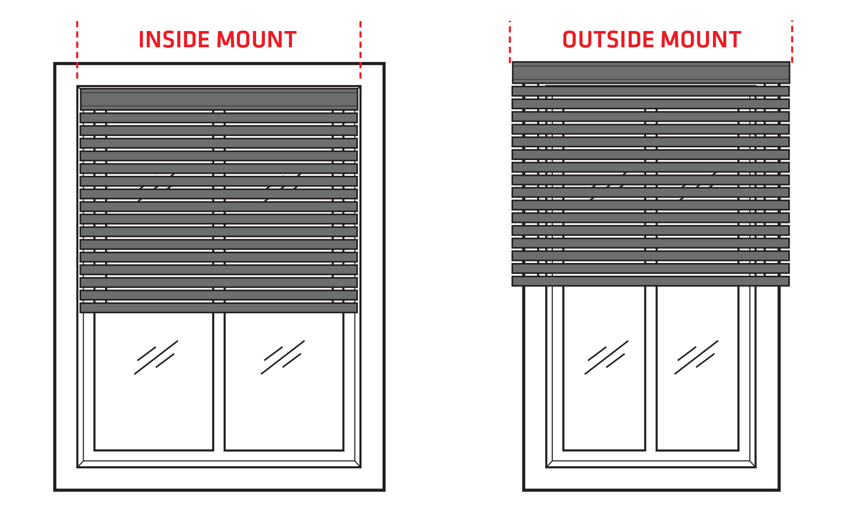 difference between inside or outside mounted blinds zone interiors